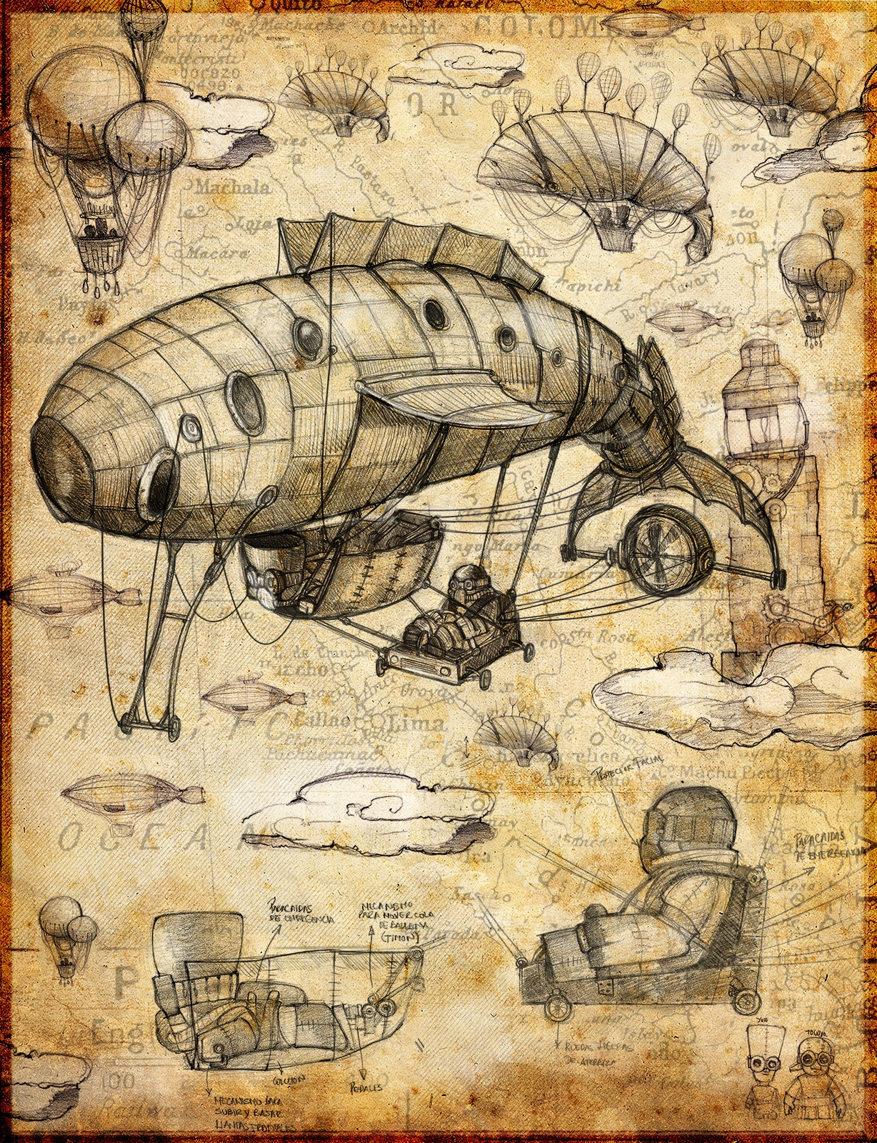 Dieselpunk flying ballena