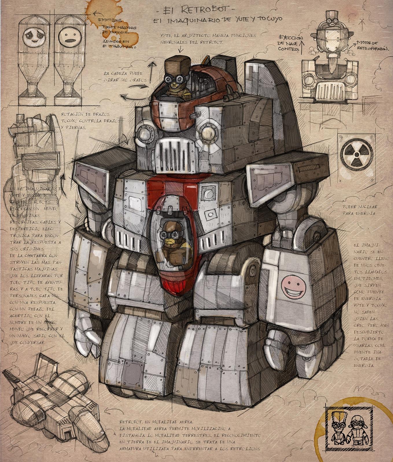 dieselpunk robot art