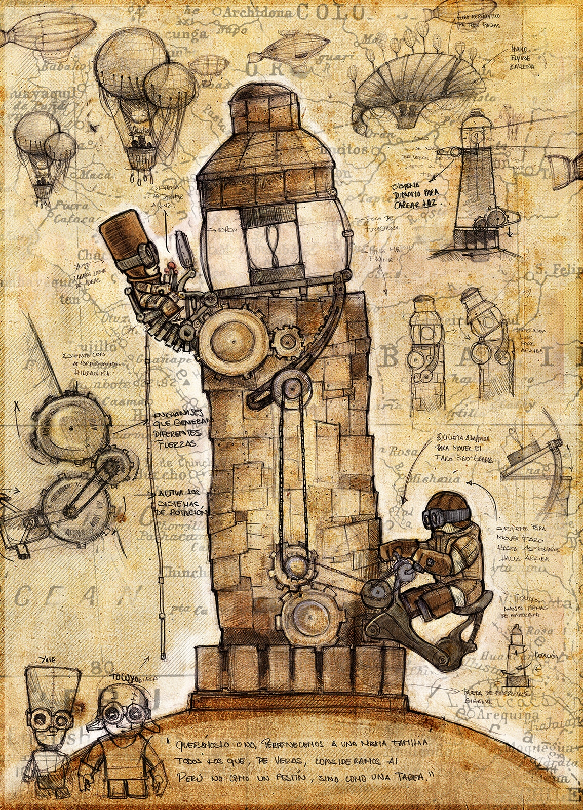 dieselpunk lighthouse