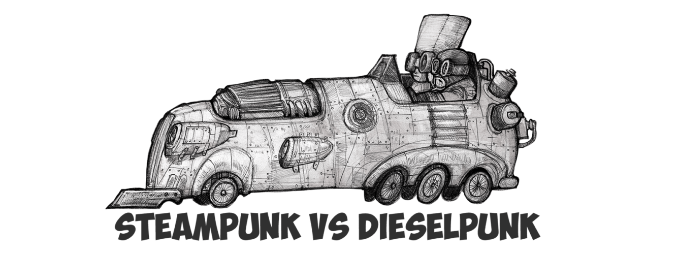 SteamPunk vs DieselPunk: 2 World Views of the Future