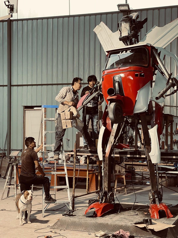 dieselpunk robot