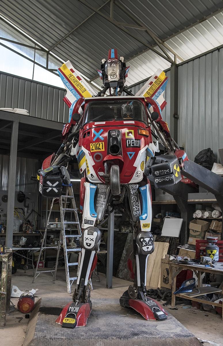dieselpunk robot mech